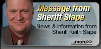 Message from Sheriff Slape